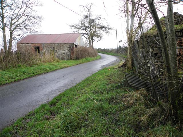 Farm building along Dreenan Road