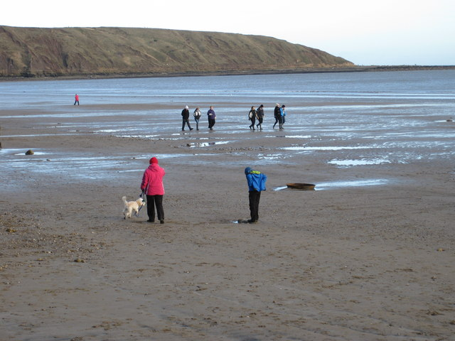 Midday, New Year's Day, Filey beach