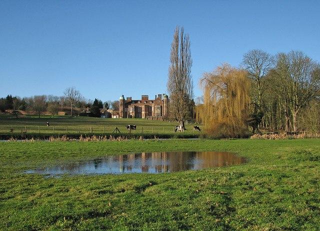 Madingley Hall reflected