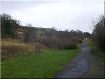 TR3140 : Drop Redoubt Road, Great Western Heights by David Anstiss