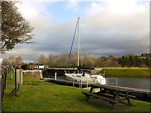 NH6140 : Yacht at Dochgarroch Lock by Gordon Brown
