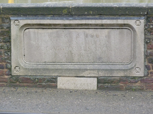 Inscription on Cooke's Bridge
