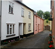 SN7634 : Southern end of Castle Street, Llandovery by Jaggery