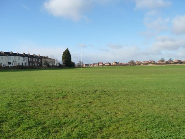 Rugby pitch by Westfield View