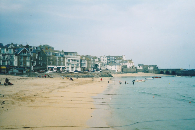 Beach at St Ives harbour