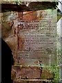 NT6231 : An inscription on a burial vault at Mertoun by Walter Baxter