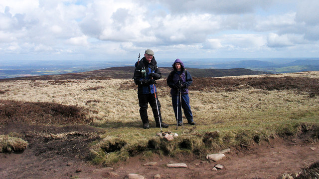 Walkers at the summit of Black Mountain