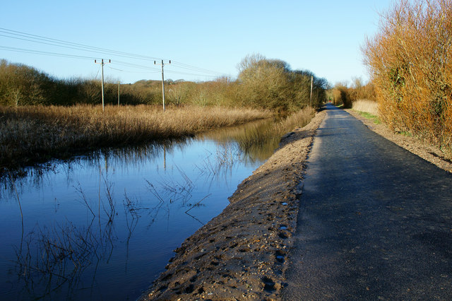 Cycle Route, Alverstone, Isle of Wight
