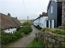 SW3526 : Cottages in Sennen Cove by Richard Law