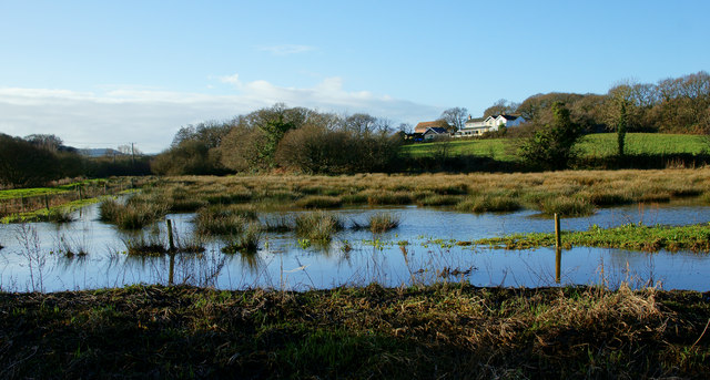 Flooding at Alverstone, Isle of Wight