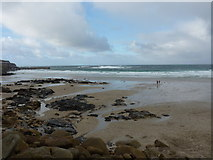 SW3526 : Sennen Beach, Christmas Day 2012 by Richard Law