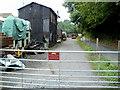 ST6670 : No public access ahead, Bitton railway station yard by Jaggery
