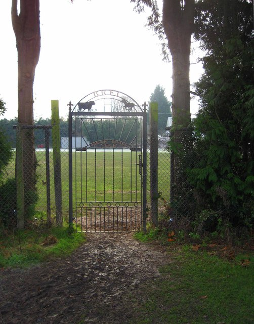 Gate from Severn Park to the Edgar Davies Pitch, Bridgnorth