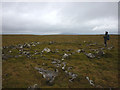 SD7884 : Ruined stone enclosure on top of Wold Fell by Karl and Ali