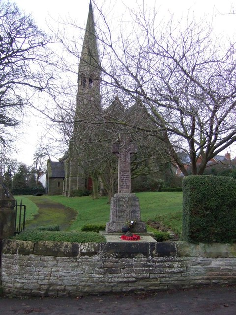 War Memorial and church, Middleton St.George