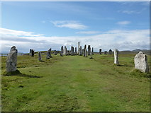 NB2133 : Callanish: the stones from the north end by Chris Downer