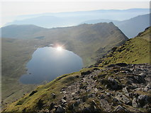 NY3415 : Red Tarn from summit of Helvellyn by Colin Park