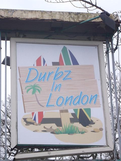 Durbz in London Pub Sign, Wimbledon