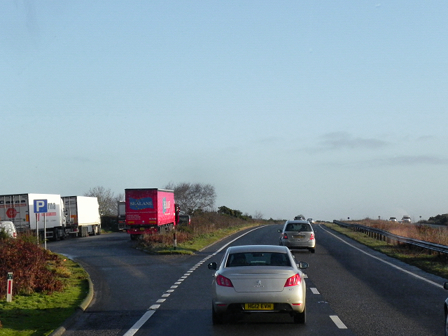 Layby on the A31