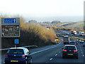 SU4725 : Northbound M3 near Shawford by David Dixon