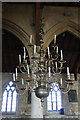 TF3239 : Chandelier in St.Mary's church by Richard Croft