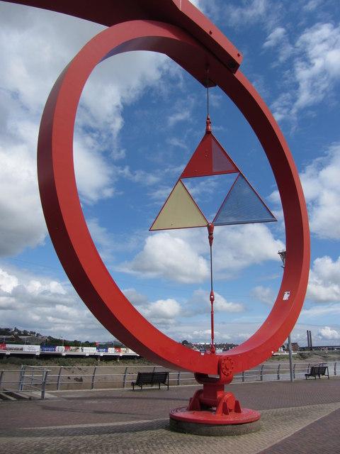 The Steel Wave Sculpture, Newport