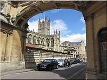 ST7564 : Bath Abbey seen through arch on York Street by Colin Park