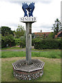 TG1836 : Village sign at Sustead, Norfolk by Colin Park