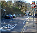 SH7856 : End of the 30mph speed limit through Betws-y-Coed by Jaggery