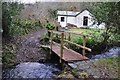 SS9018 : Mid Devon : Coleford Water & Rifton Lodge by Lewis Clarke