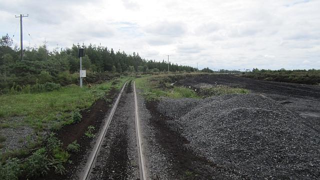 Turf cutting railway