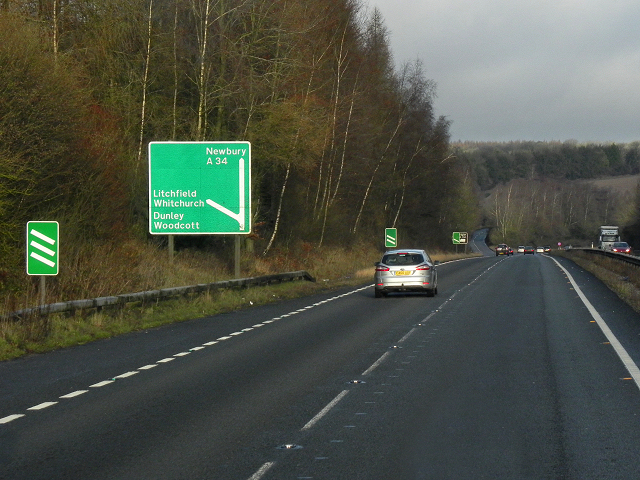 Northbound A34, Bradley Wood