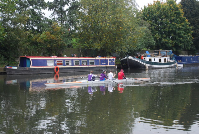 Rowers on the River Lea
