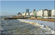 TQ3103 : Brighton Beach and seafront by Roger  Kidd