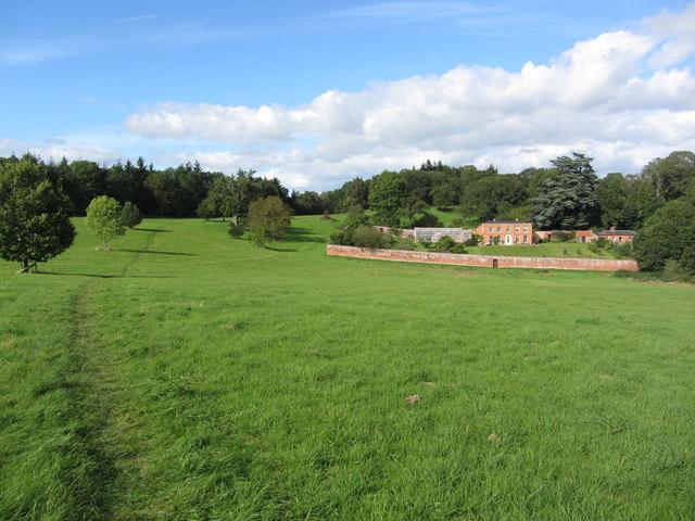 Hope End House & footpath above Wellington Heath, Herefordshire
