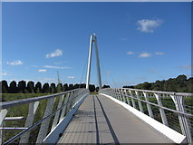 SO8453 : New footbridge over River Severn, south of Diglis Locks by Colin Park