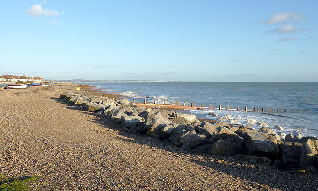 The beach by East Worthing, West Sussex