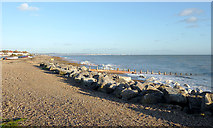 TQ1602 : The beach by East Worthing, West Sussex by Roger  Kidd