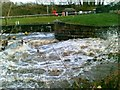 SJ6370 : Sluice at Vale Royal Locks on the Weaver Navigation by John Harrison