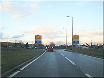 SJ2618 : A483 at Four Crosses village boundary by Colin Pyle
