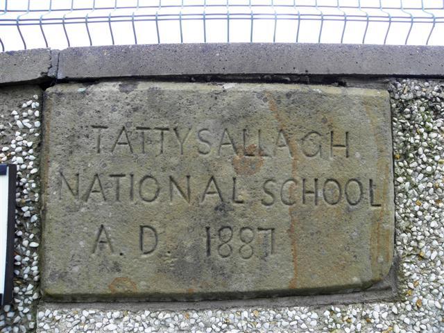 Plaque, Tattysallagh National School (AD 1887)