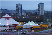 NT2677 : Moscow State Circus beside Ocean Terminal, Leith by Mike Pennington