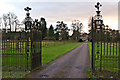 SO5476 : Gates to Henley Hall by Ian Capper