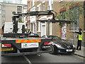 TQ3382 : Authorised enforcement, Swanfield Street, E2 by Robin Stott