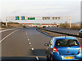 SU4771 : Sign Gantry on the A34 by David Dixon