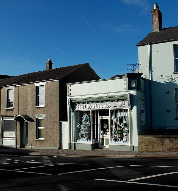 Shadows and Reflections on High Street, Lydney