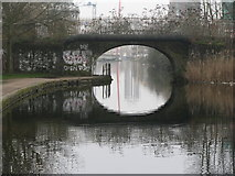 TQ3681 : Bridge over the canal by Dave Pickersgill