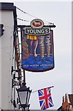 TQ1649 : The Old House at Home (2) - sign, 24 West Street, Dorking by P L Chadwick
