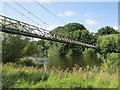 NT6524 : Suspension bridge, Monteviot by Richard Webb