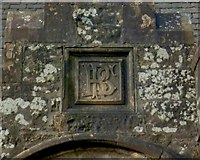 NS3882 : South lodge: monogram above door by Lairich Rig